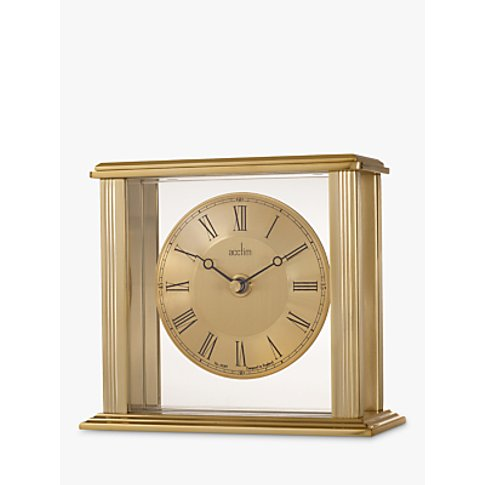 Acctim Gayhurst Mantel Clock, Gold, H14cm