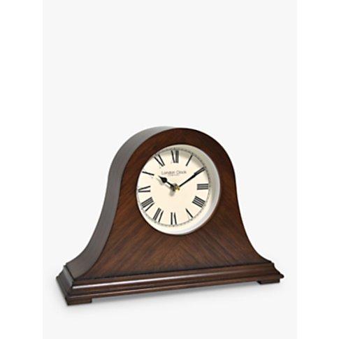 London Clock Company Napoleon Wood Mantel Clock, Walnut
