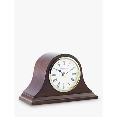 London Clock Company Solid Wood Mantel Clock, Mahogany
