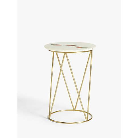 John Lewis & Partners Belle Marble Side Table, White