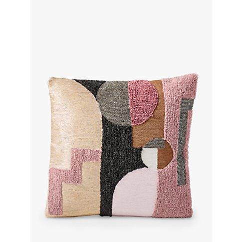 West Elm Embellished Deco Shapes Cushion, Adobe Rose