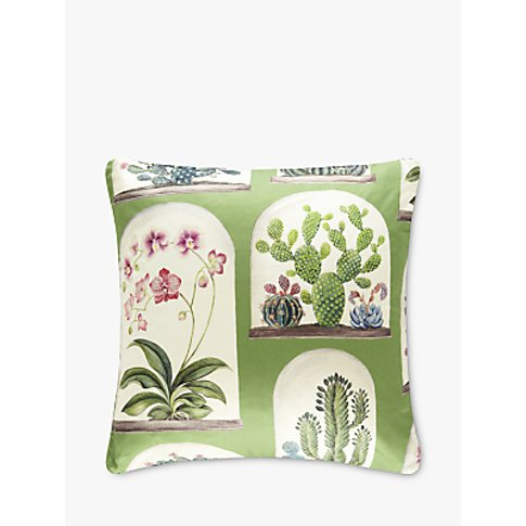 Sanderson Terrariums Cushion, Botanical Green
