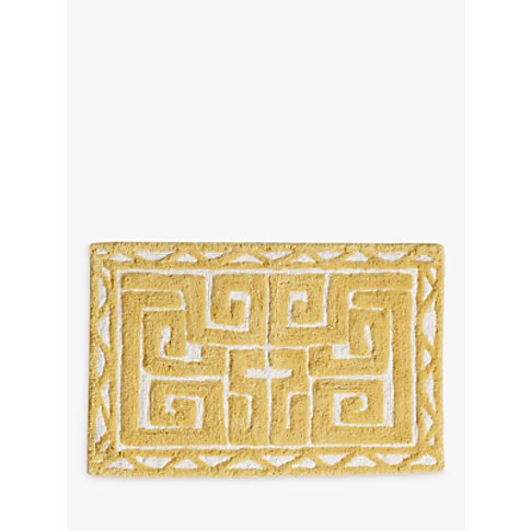 Anthropologie Camille Bath Mat, Yellow