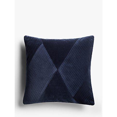 John Lewis & Partners Pleated Velvet Cushion