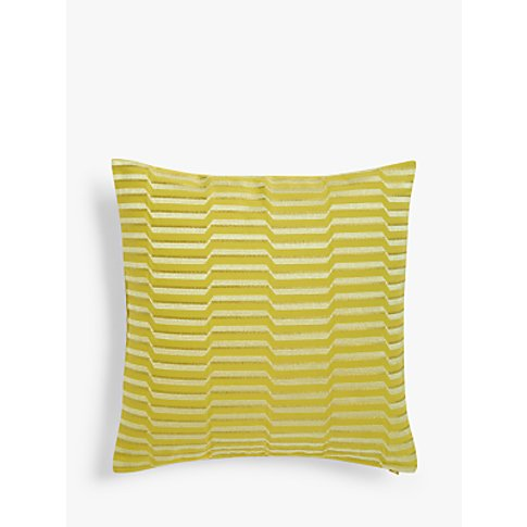 John Lewis & Partners Arris Cushion, Citrine