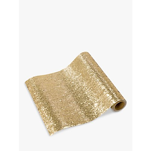 Talking Tables Luxe Gold Glitter Table Runner, 1.8m