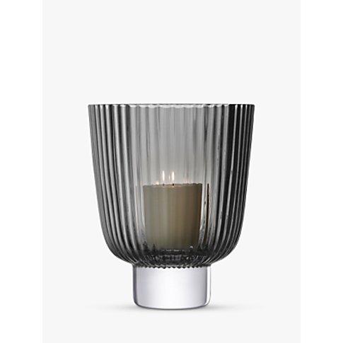 Lsa International Pleat Lantern Candle Holder, Grey