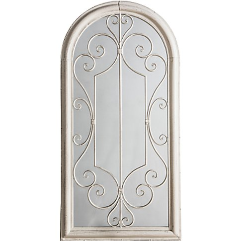 Fleura Outdoor Garden Wall Ornate Arched Mirror, 96....