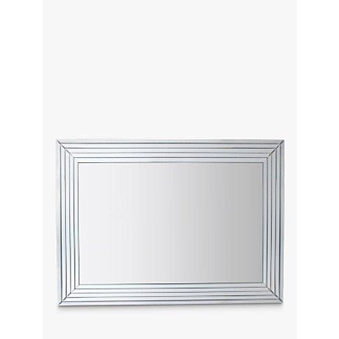Brillot Rectangular Wall Mirror, 115 x 85cm, Silver