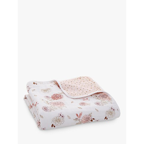 Aden + Anais Dahlia Dream Blanket, Pink/Multi
