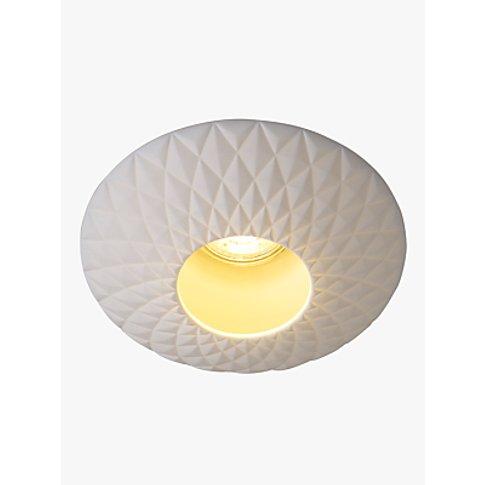 Original Btc Sopra Quilted Flush Ceiling Light, White