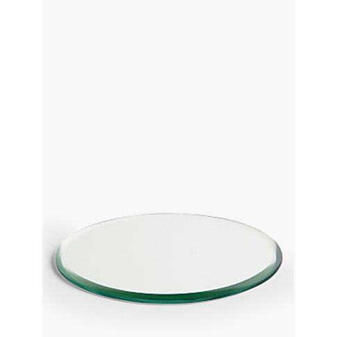 John Lewis & Partners Mirror Candle Plate, 18 Cm