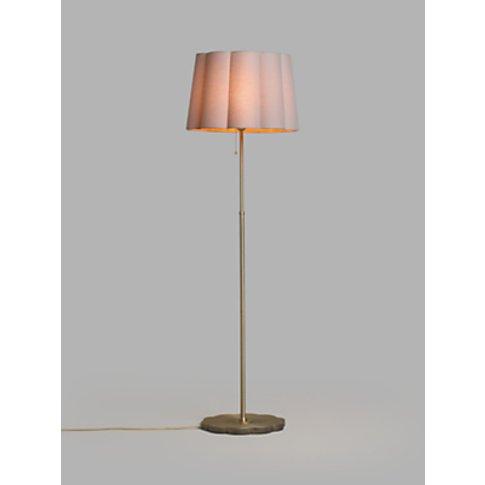 John Lewis & Partners Scallop Floor Lamp, Antique Br...