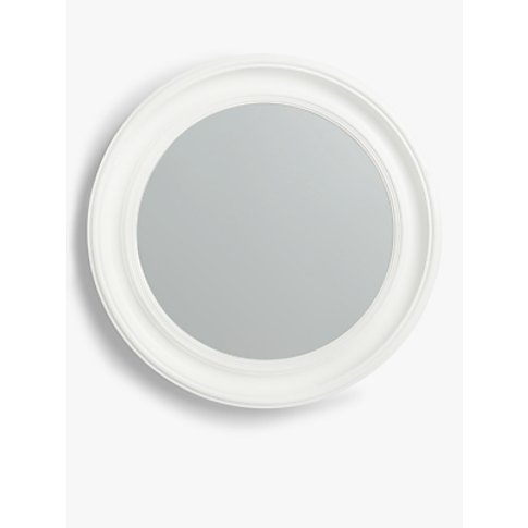 Croft Collection Porthole Round Mirror, 68cm, White