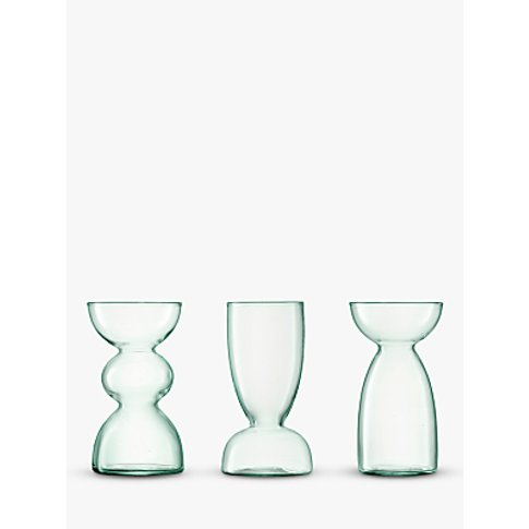 Lsa International Canopy Trio Of Recycled Glass Vase...