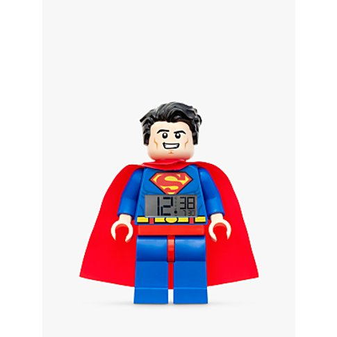 LEGO Superman Minifigure Alarm Clock