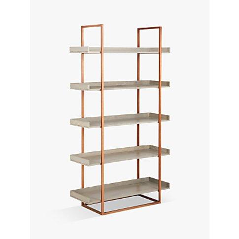 John Lewis & Partners Asha Tall Bookcase, Grey