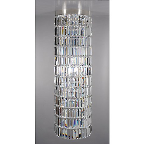 Impex Crystal Art Chandelier Ceiling Light, Clear/Ni...