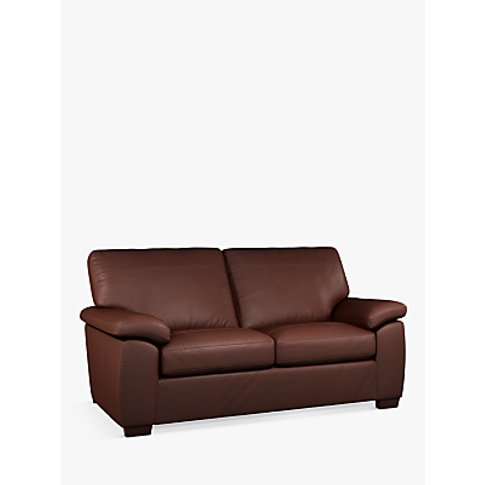 John Lewis & Partners Camden Medium 2 Seater Leather...