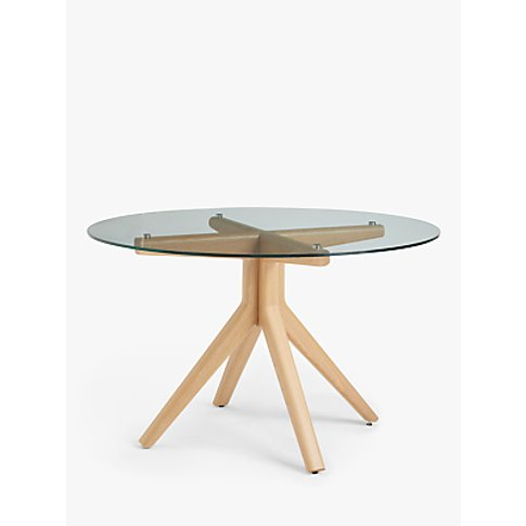 John Lewis & Partners Poise 6 Seater Round Glass Din...