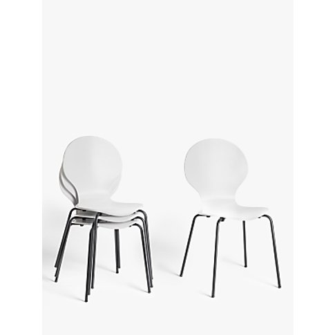 House By John Lewis Crescent Dining Chairs, White, S...