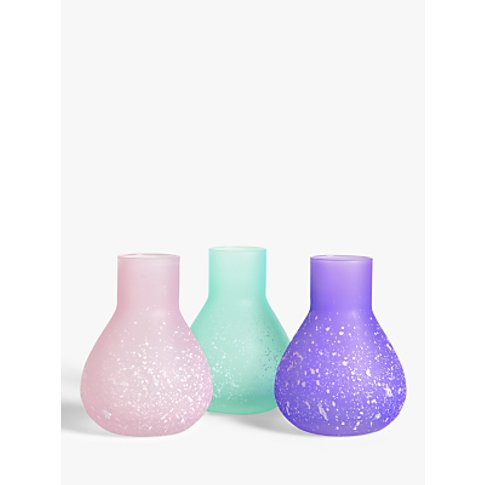 John Lewis & Partners Splatter Bud Vases, Set Of 3