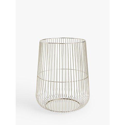 John Lewis & Partners Silver Cage Lantern Candle Hol...