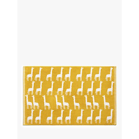 John Lewis & Partners Giraffes Terry Cotton Bath Mat