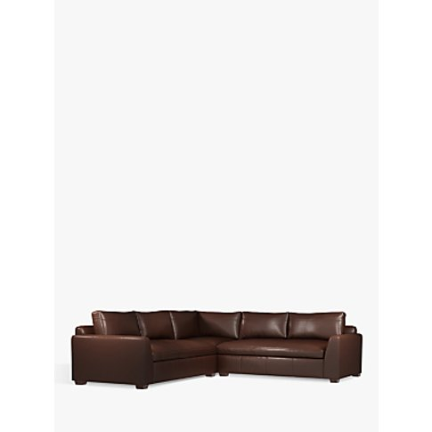 John Lewis & Partners Tortona Leather Corner Sofa, D...