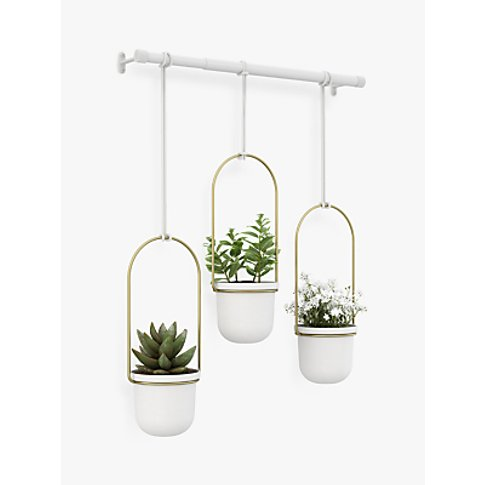 Umbra Triflora Hanging Planter, White