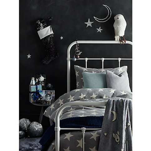 little home at John Lewis Star Knitted Duvet Cover a...