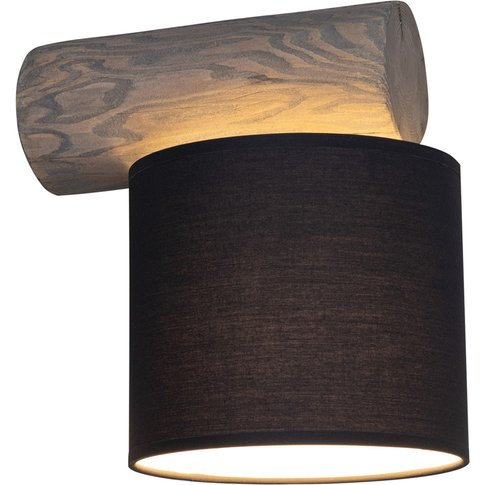 Pino Simple Wall Lamp, Anthracite, Grey Wood