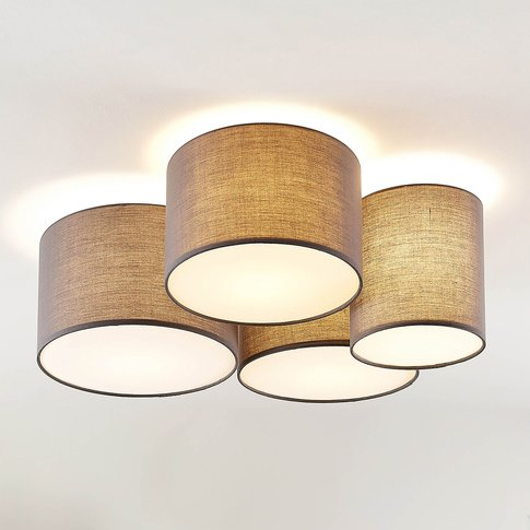 Lindby Laurenz Ceiling Lamp, 4-Bulb, Grey