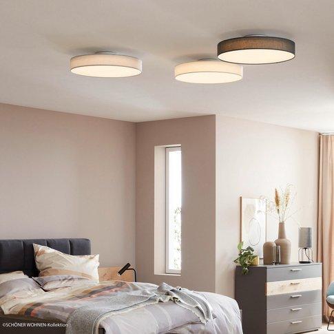 Schöner Wohnen Pina Led Ceiling Light, Dark Grey