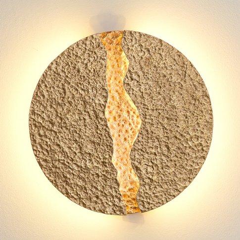 Eruption - Round, Gold-Coloured Led Wall Light