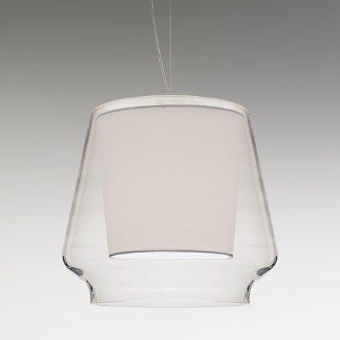 Casablanca Aleve S - Elegant Glass Pendant Light
