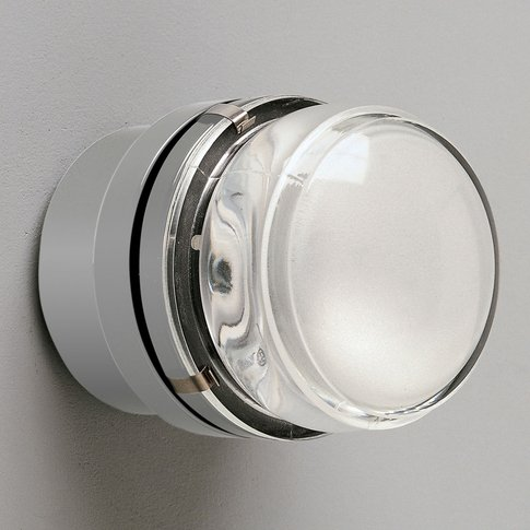 Fresnel - Wall Light With Glass Lens, Grey - Ip44