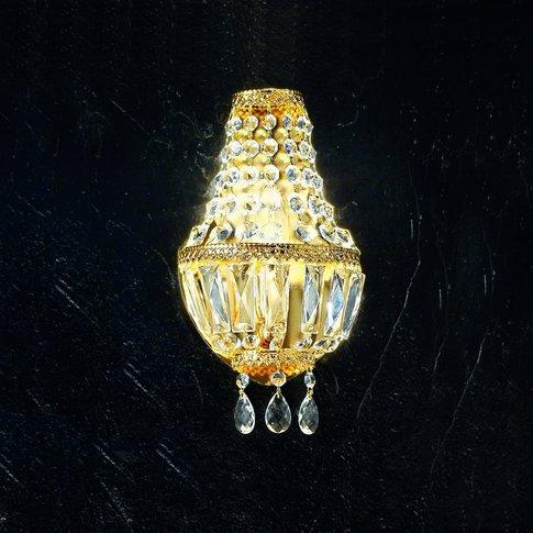 Wall Light Cupola, 24 Carat Gold-Plated