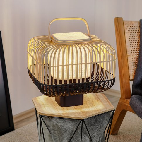 Forestier Bamboo Square S Table Lamp In Black