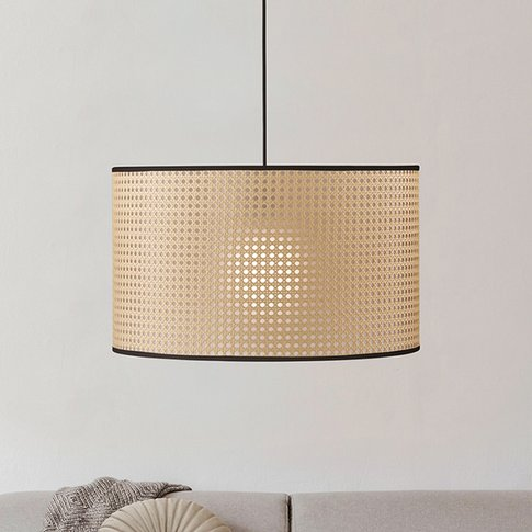 Tyler Pendant Light With A Woven Rattan Look
