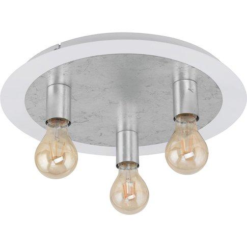 Passano Ceiling Lamp, 3-Bulb, Silver
