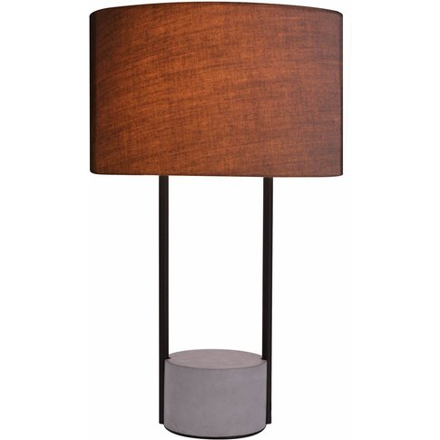 Allegro Table Lamp With A Fabric Lampshade, Grey