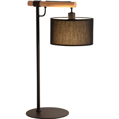 Romeo Table Lamp With A Fabric Lampshade, Black