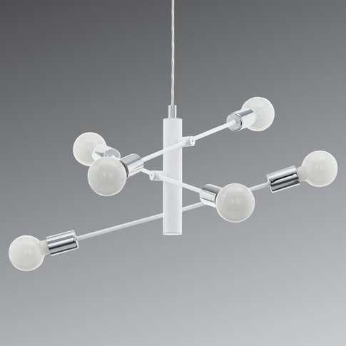 Gradoli Pendant Lamp, Six-Bulb