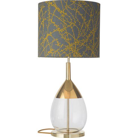 Ebb & Flow Lute Table Lamp Branches Grey/Ochre