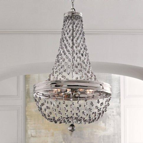 Malia Crystal Glass Chandelier