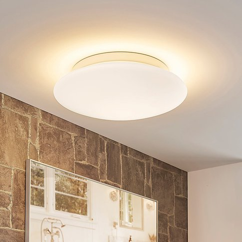White, Dimmable Toan Led Glass Ceiling Lamp, Ip44