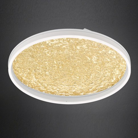 Bali Led Ceiling Light, Dimmable, Gold, 60Cm