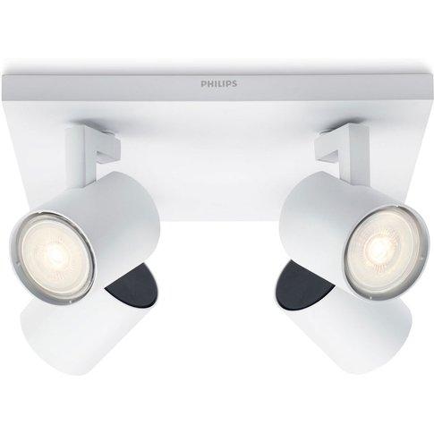 Philips Runner Led Ceiling Light White 4-Bulb