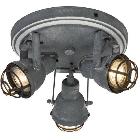 3-Bulb Industrial Led Ceiling Lamp Bente